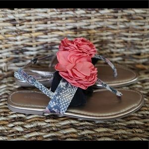 BCBG sandals.